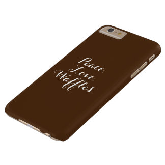 Peace. Love. Waffles. Barely There iPhone 6 Plus Case