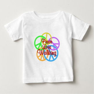 Peace Love Walking Baby T-Shirt