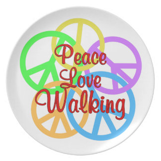 Peace Love Walking Plate