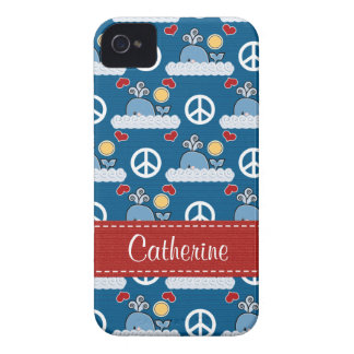Peace Love Whales Blackberry Bold Case Cover
