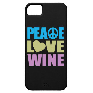 Peace Love Wine Barely There iPhone 5 Case