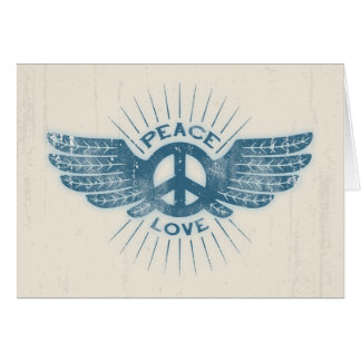 Peace Love Wing Greeting Card