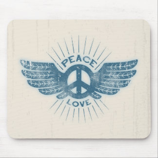 Peace Love Wing Mouse Pad
