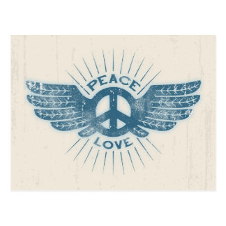 Peace Love Wing Postcard