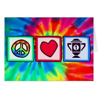 Peace, Love, Winning Greeting Card
