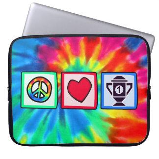 Peace, Love, Winning Laptop Computer Sleeves