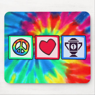 Peace, Love, Winning Mouse Pad