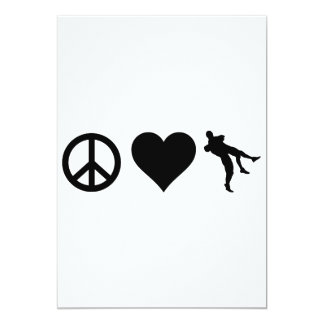 Peace Love Wrestling 13 Cm X 18 Cm Invitation Card