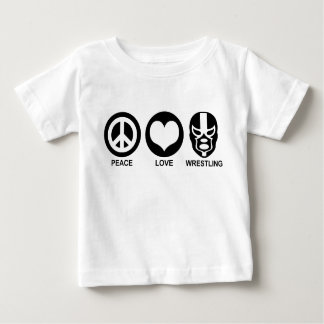 Peace love Wrestling Baby T-Shirt