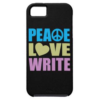 Peace Love Write iPhone 5 Cases