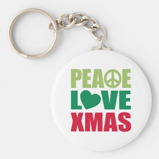 Peace Love Xmas Keychains
