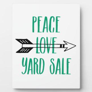 Peace Love Yard Sale Arrow Line Display Plaques