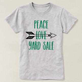 Peace Love Yard Sale Arrow Shirt