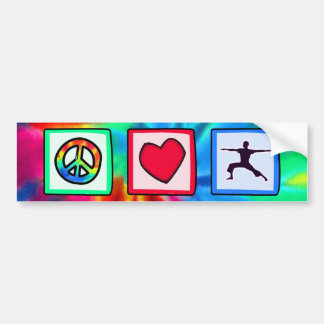 Peace, Love, Yoga Bumper Sticker