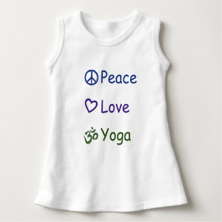 Peace Love Yoga Dress