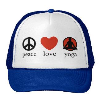 Peace Love Yoga Gift Cap