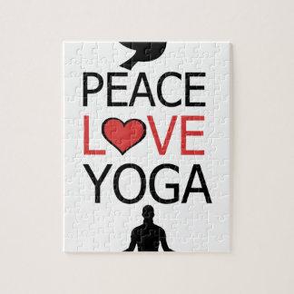 Peace Love & Yoga Jigsaw Puzzle