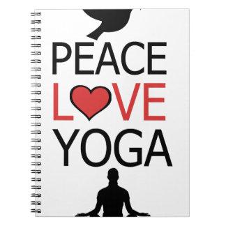 Peace Love & Yoga Notebooks