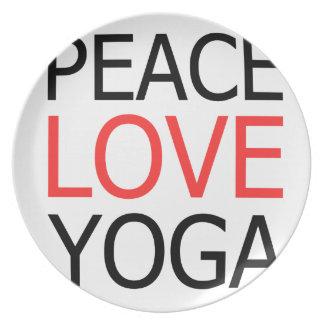 Peace Love & Yoga Plate