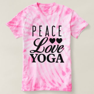 Peace Love Yoga Tie-dye Tee