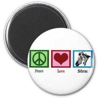 Peace Love Zebras Magnet