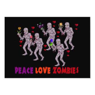 Peace Love Zombies Invitation