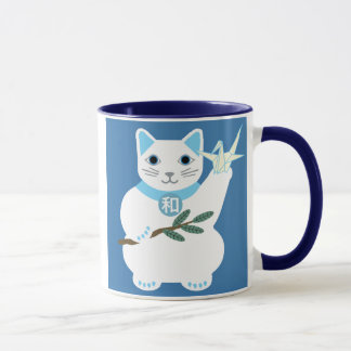 Peace Lucky Cat Mug