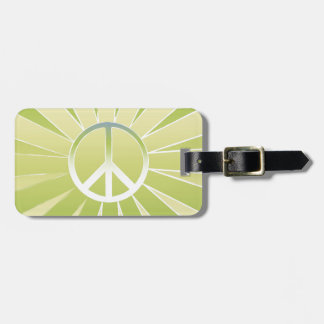 Peace Luggage Tag