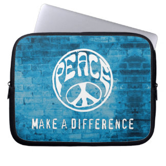 Peace: Make a Difference Laptop Sleeve