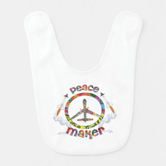 Peace Maker, hippie military drone funny Bib
