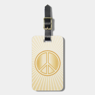 Peace Mandala Luggage Tag
