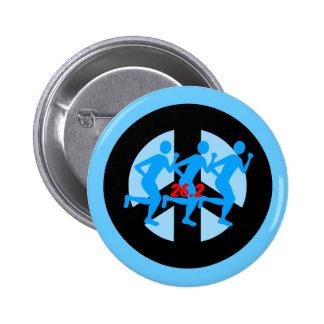 peace marathon button