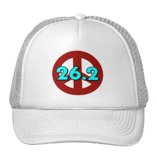 Peace marathon mesh hats
