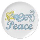 Peace Mermaid (Holiday Dreams) Plate
