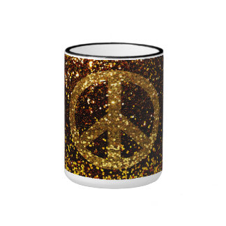 Peace Mug with Glitter