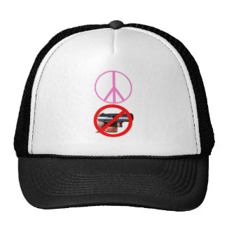 peace no guns trucker hat