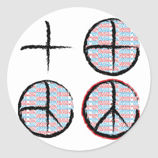 Peace  NOT Crosshairs Sticker