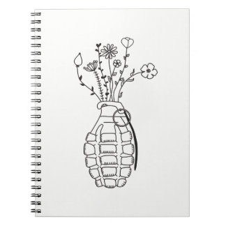 Peace not war notebook