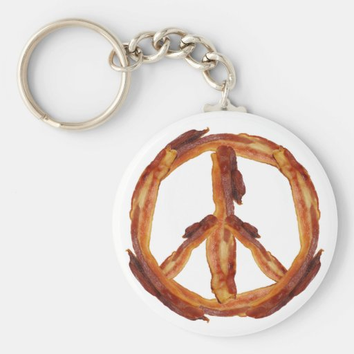 Peace Of Bacon Key Chain