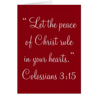 """Peace of Christ"" Scripture Greeting Card"