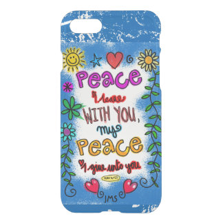 Peace of Jesus Blue Personalized iPhone 7 Case