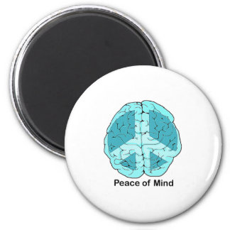Peace of Mind 6 Cm Round Magnet