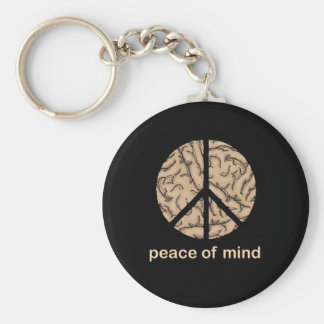 Peace of Mind Basic Round Button Key Ring