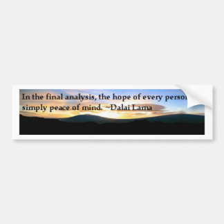 Peace of Mind Bumper Sticker