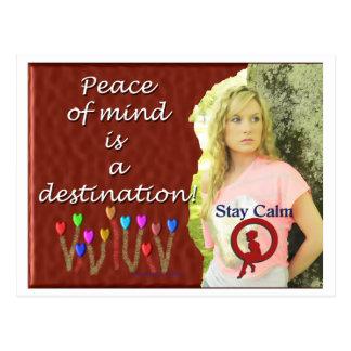 Peace of Mind Destination Postcard