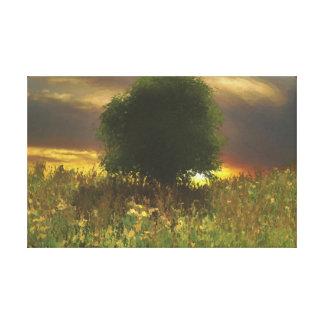 Peace of mind digitally handpainted canvas print