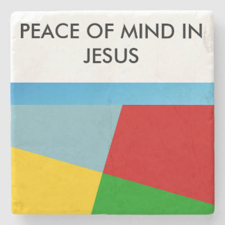 Peace of Mind in Jesus Marble Coaster Stone Beverage Coaster