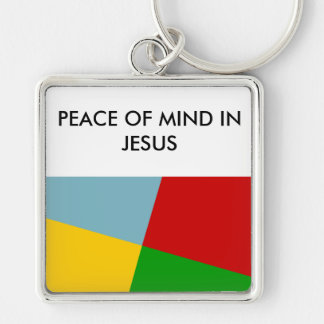 Peace of Mind in Jesus Premium Key Chain