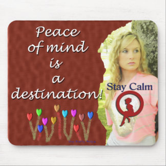 Peace of mind mouse pad