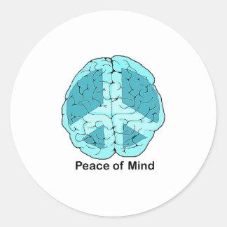 Peace of Mind Round Sticker